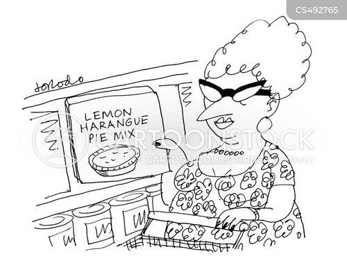 baking supplies cartoon