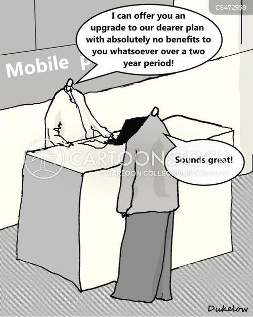 mobile plan cartoon