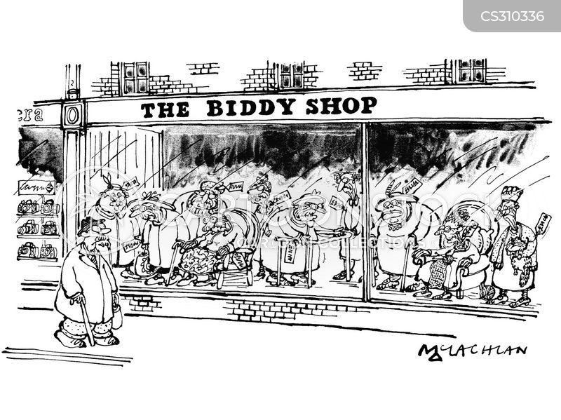 old aged pensioners cartoon