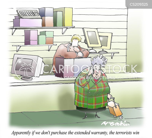 hard sell cartoon