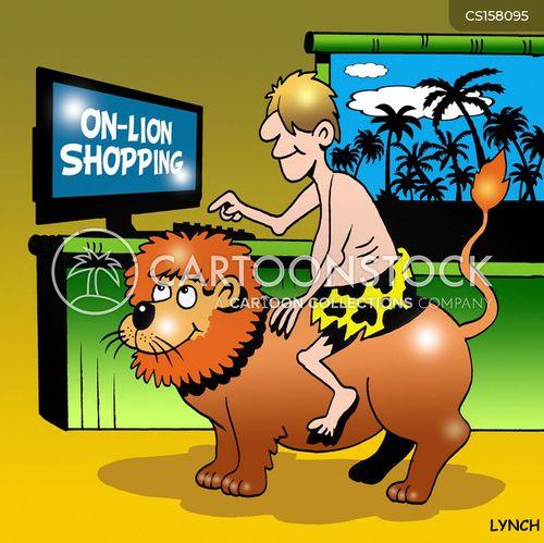 online sales cartoon