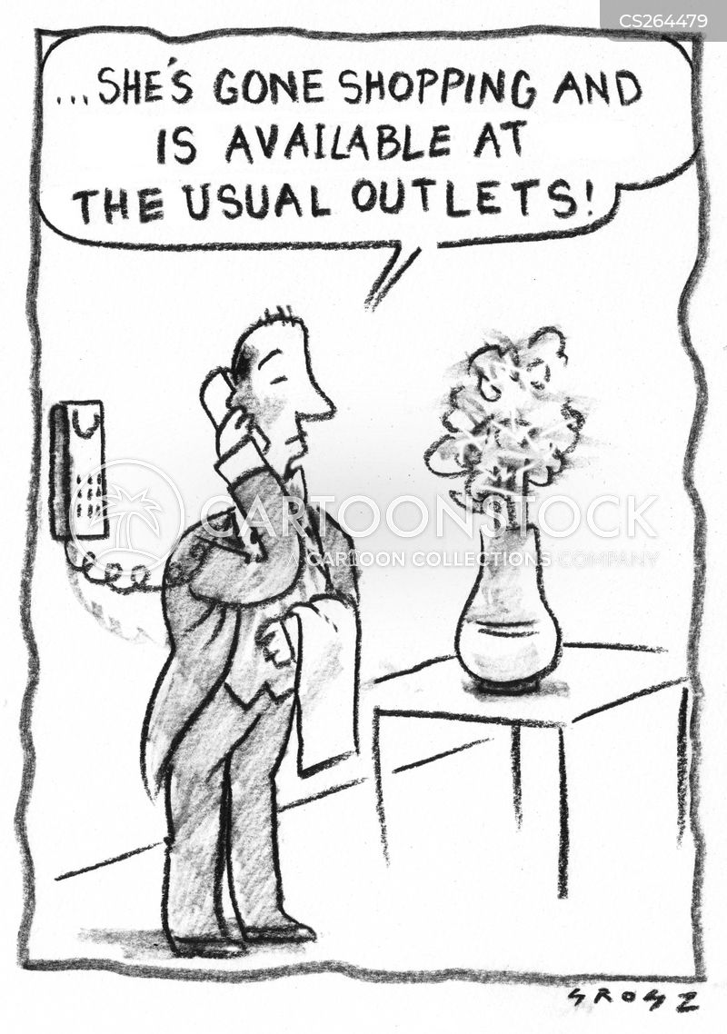 outlet stores cartoon