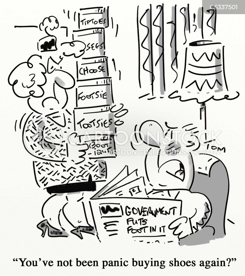 panic buyers cartoon