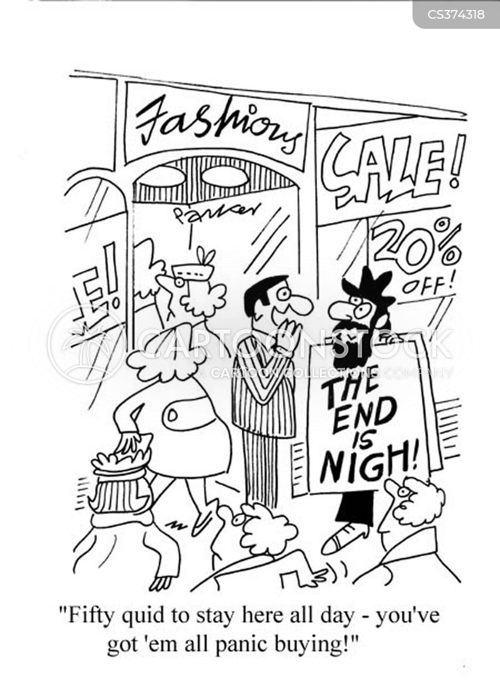 panic buying cartoon