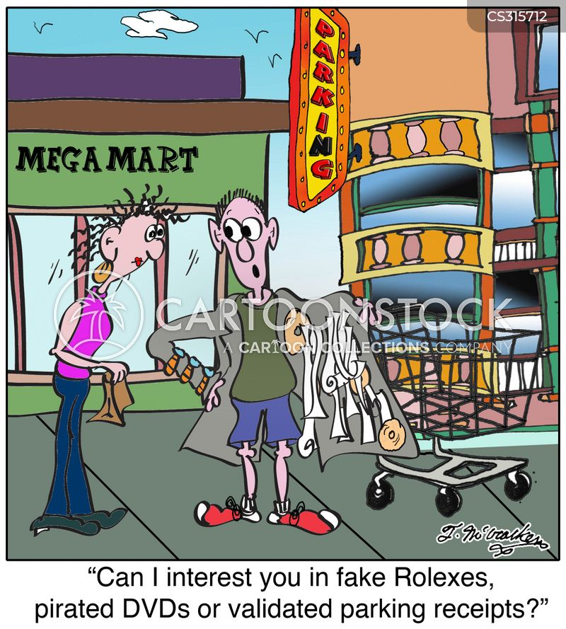 counterfeit goods cartoon