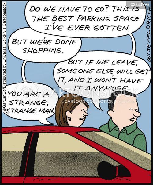 parking spots cartoon