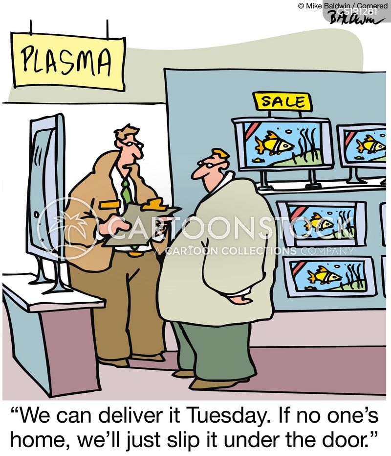 delivery date cartoon