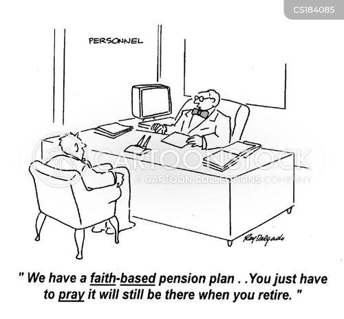 pension plan cartoon