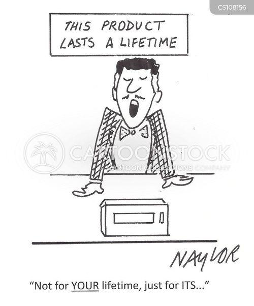 lifetime warranty cartoon