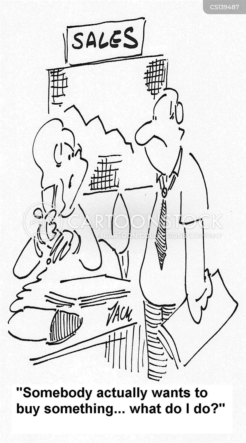 sales woman cartoon