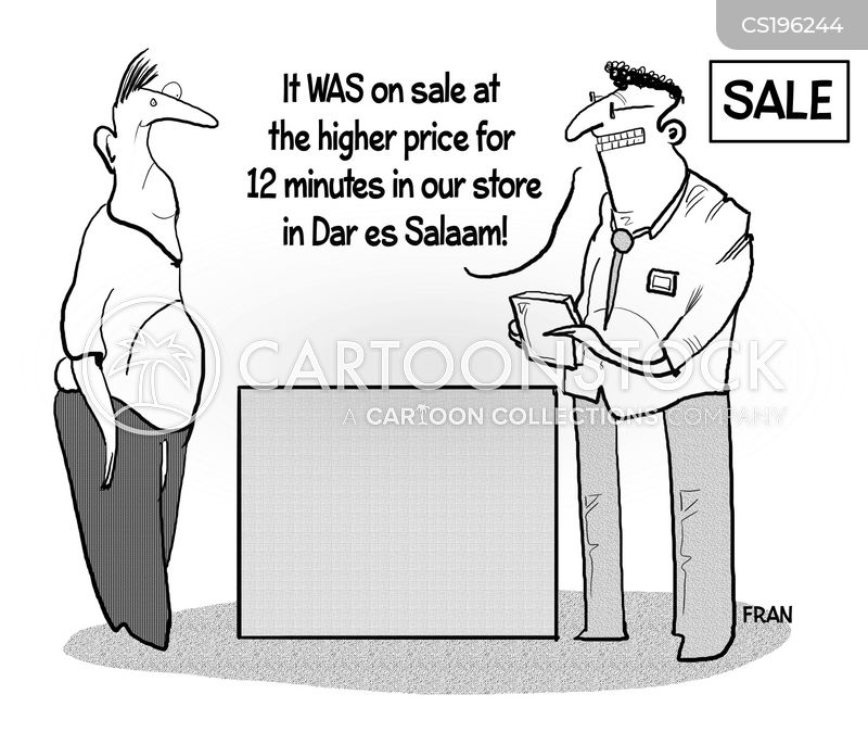 retail prices cartoon