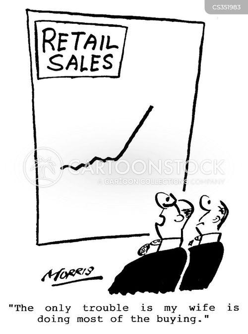 retail sales cartoon