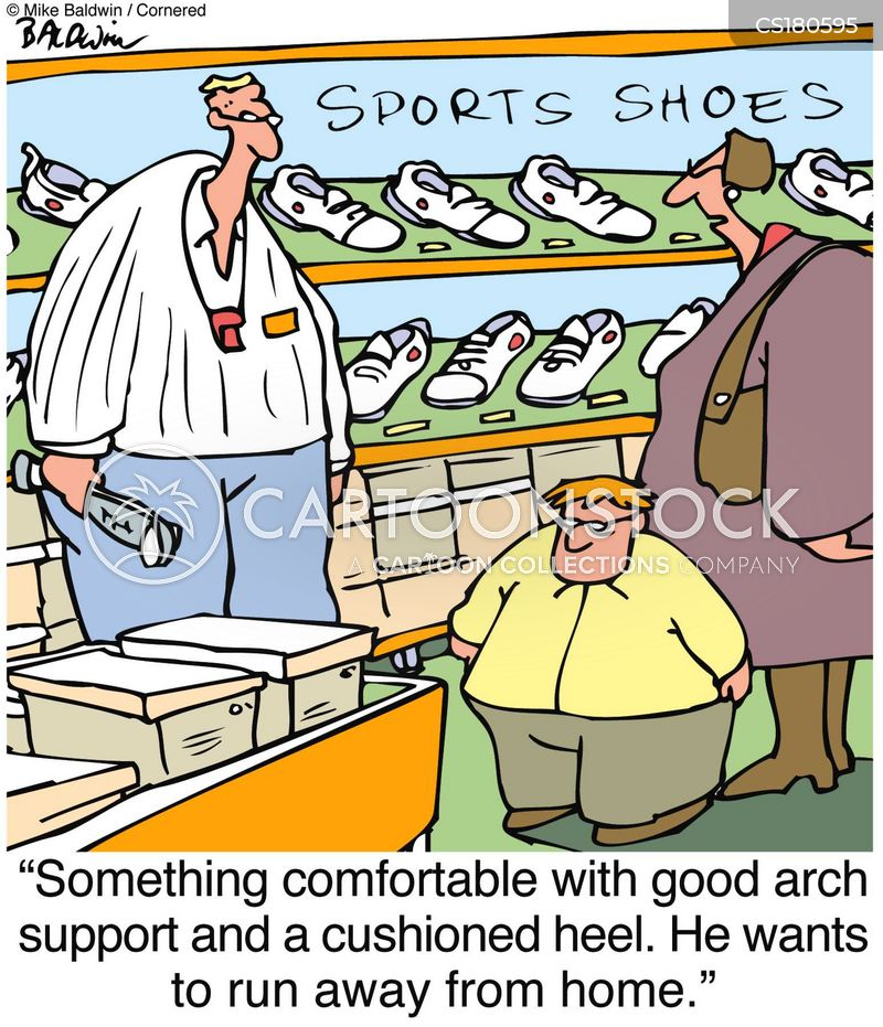 shoe store cartoon