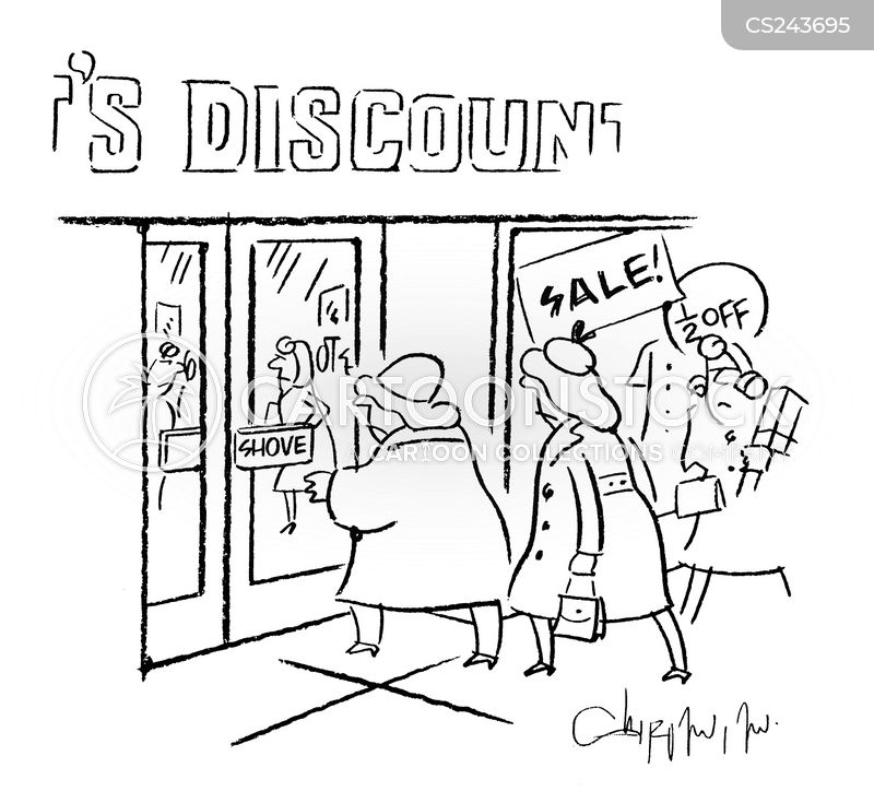 seasonal sale cartoon