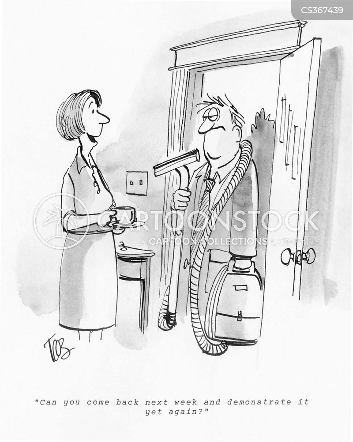 doorstep sales cartoon
