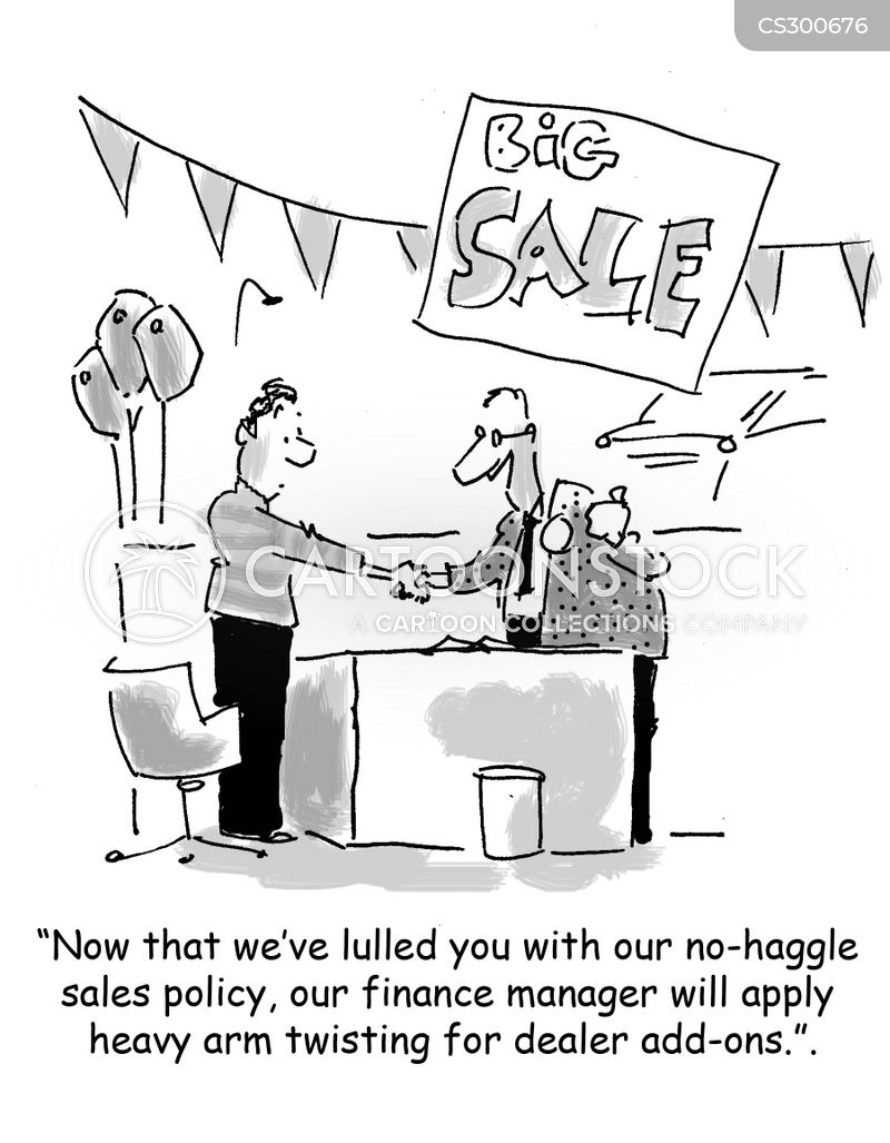 sales policy cartoon