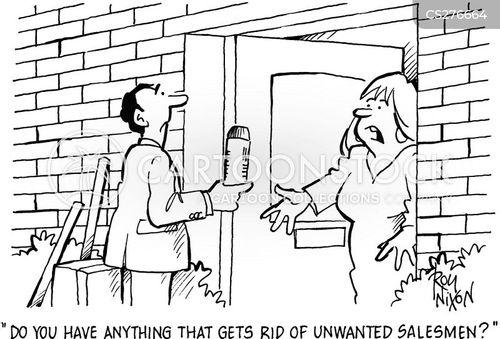 door to door sales cartoon