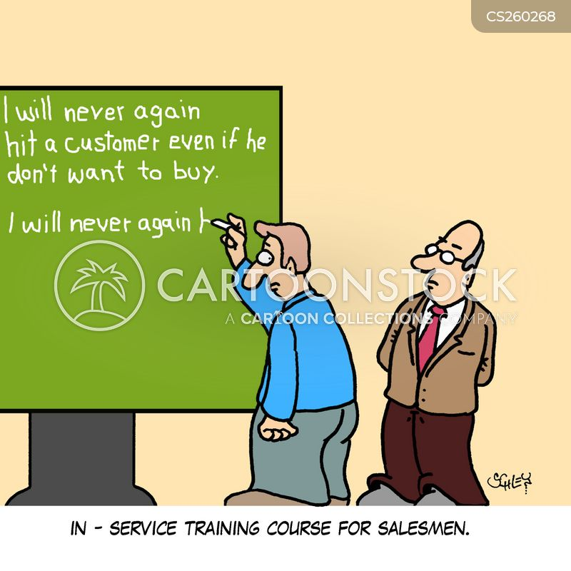 sales skills cartoon