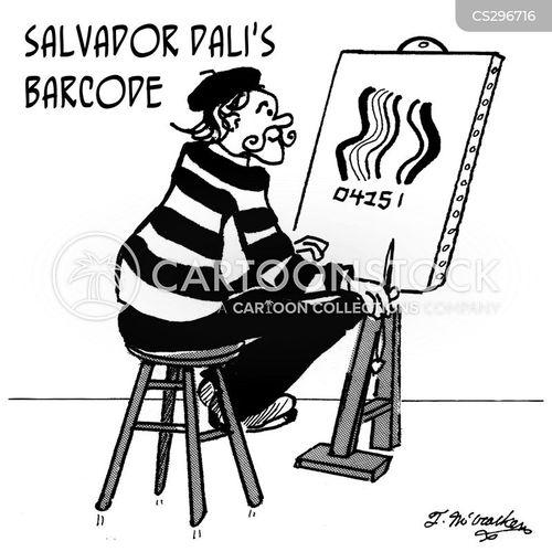 bar-code cartoon