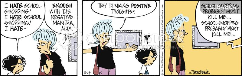positive thought cartoon