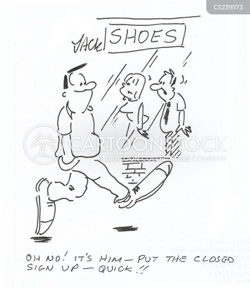 big shoe cartoon