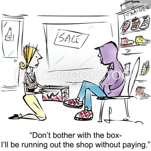 shoplifts cartoon