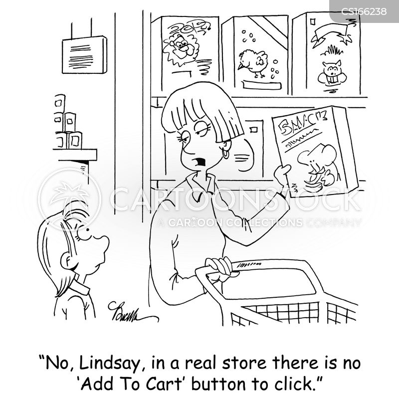 grocery shops cartoon