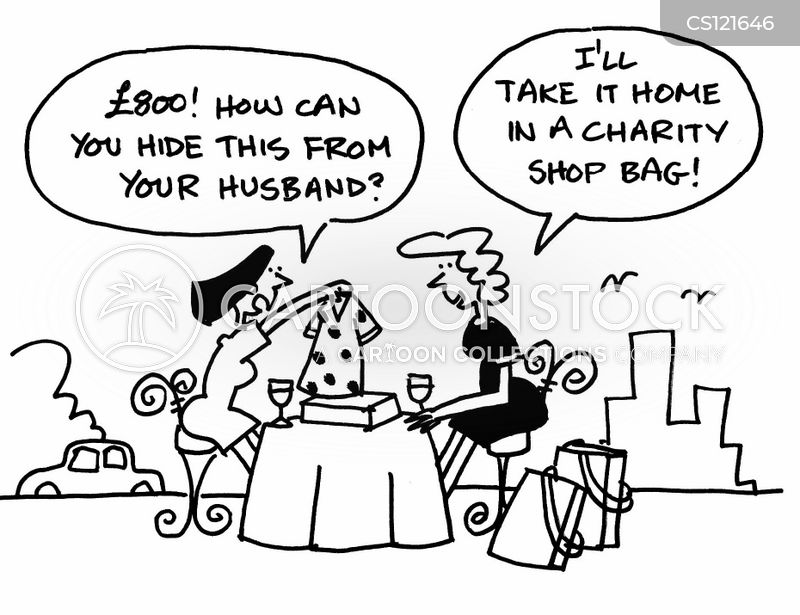 charity shop cartoon