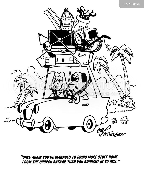 car boot sales cartoon
