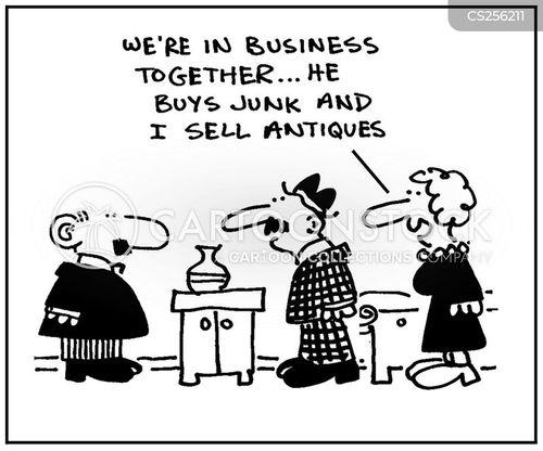 junk shop cartoon