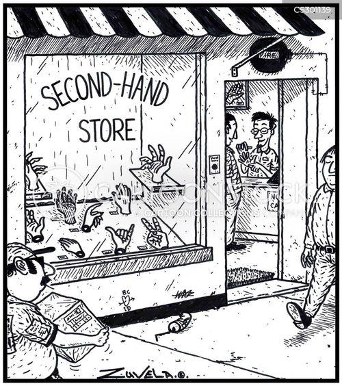 second hand store cartoon