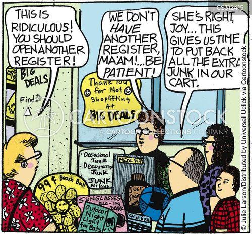 registers cartoon