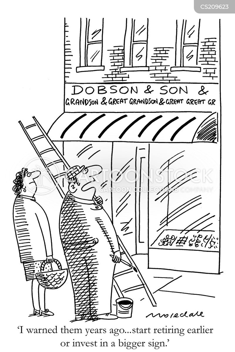 shop fronts cartoon