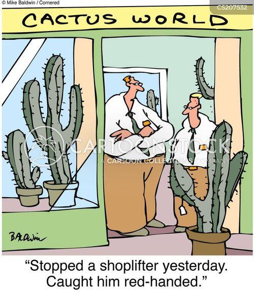 shoplifter cartoon