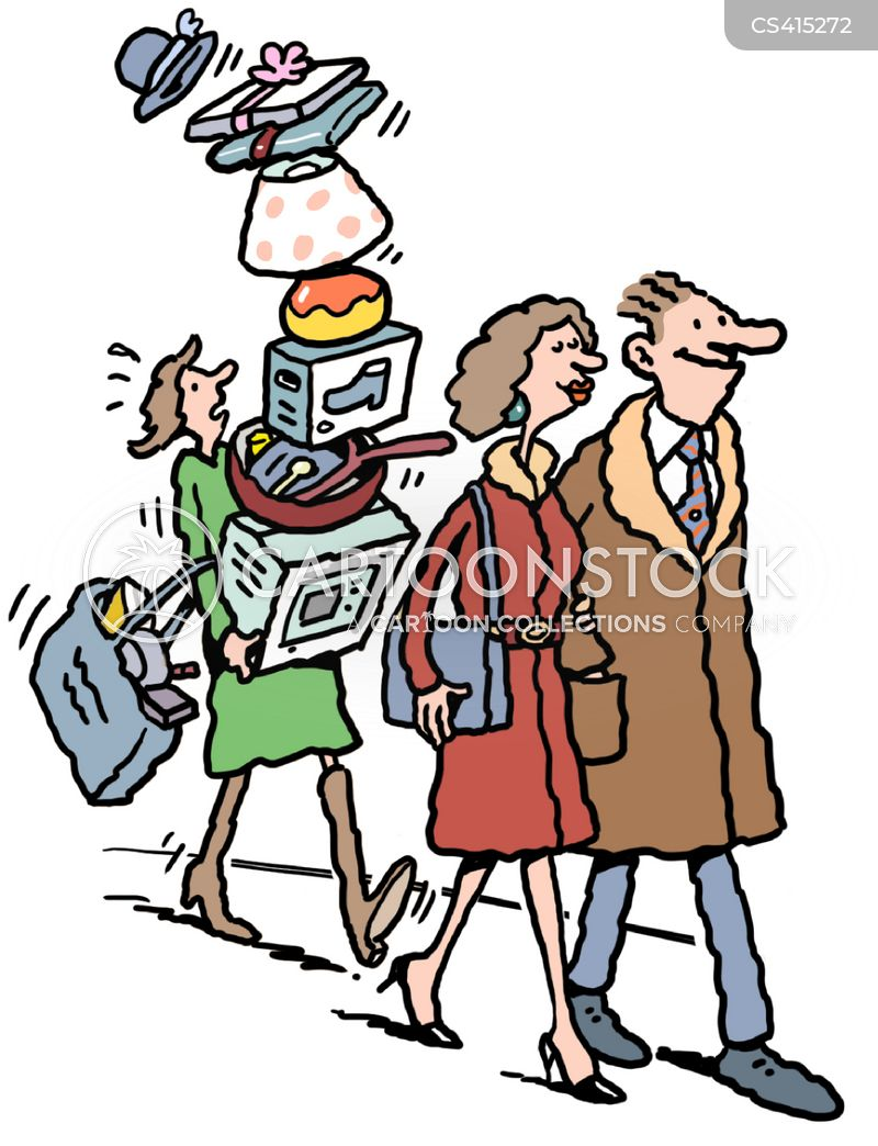 shopping assistant cartoon