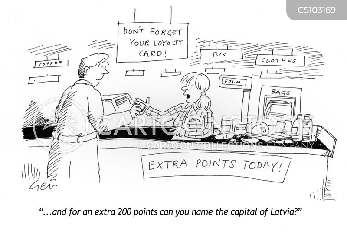 loyalty points cartoon