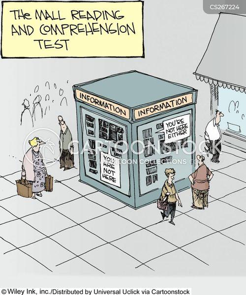 information stands cartoon