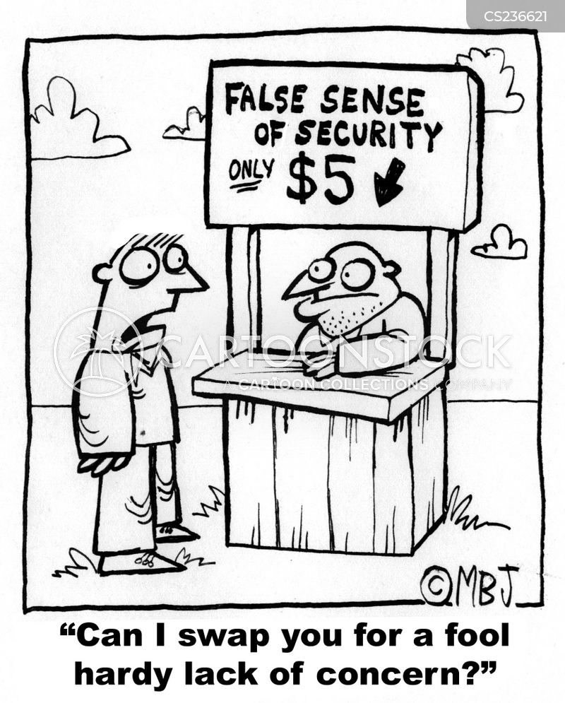 false sense of security cartoon