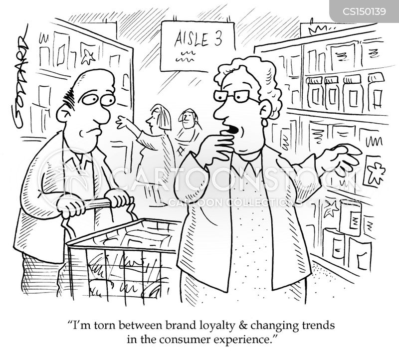 brand loyalty cartoon