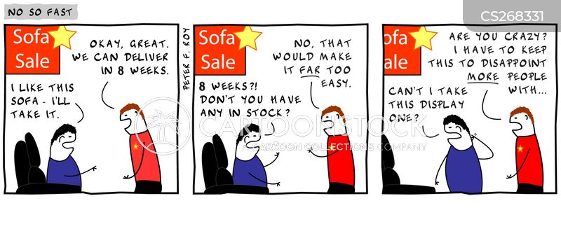 Sofa Sales Cartoon 1 Of 2