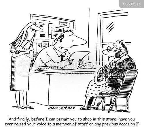 shop staff cartoon