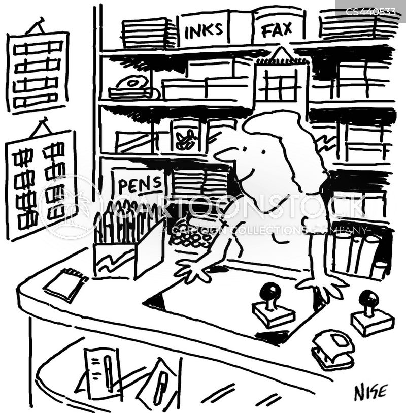 Stationary Shops Cartoons and Comics - funny pictures from ...