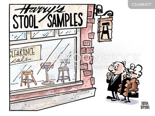stool sample cartoon