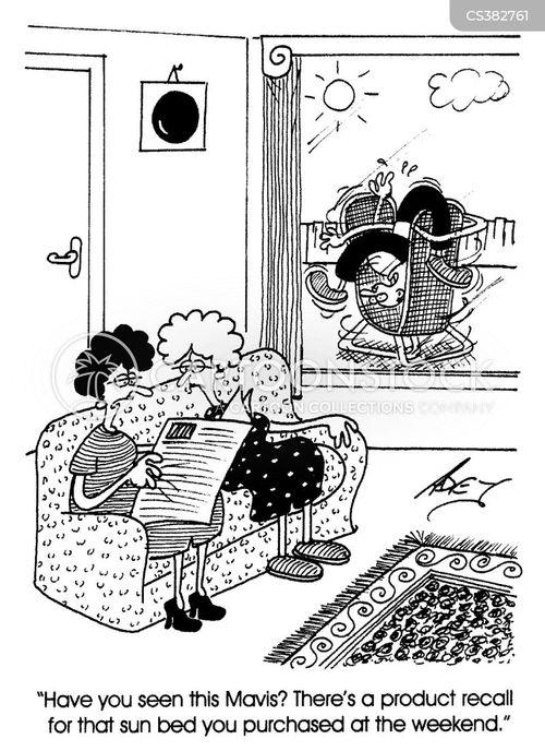garden furniture cartoon