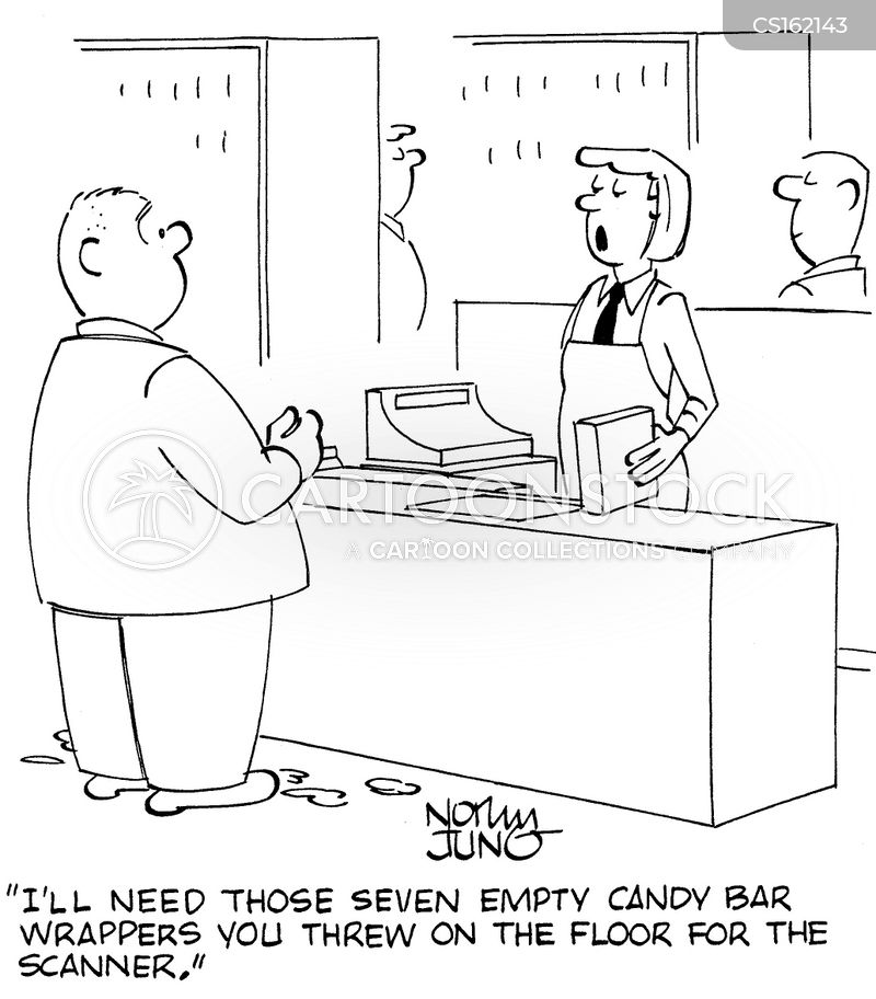candy bars cartoon