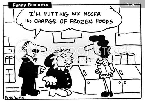 freezer cabinet cartoon