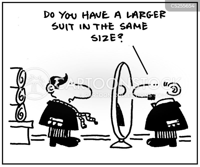 clothing size cartoon