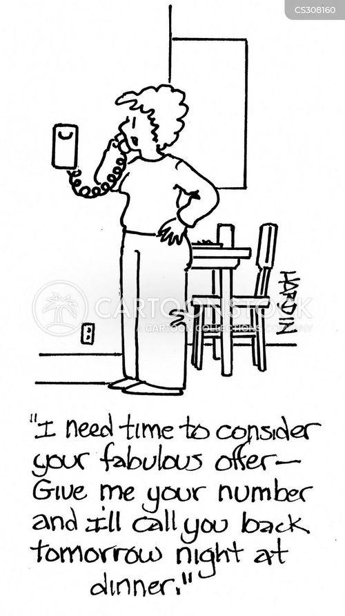 pushy salesmen cartoon
