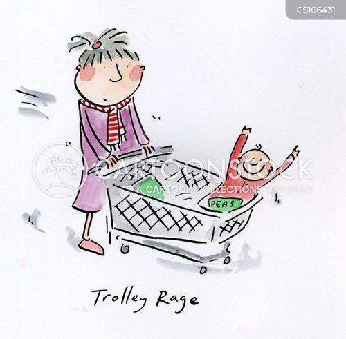 buying food cartoon