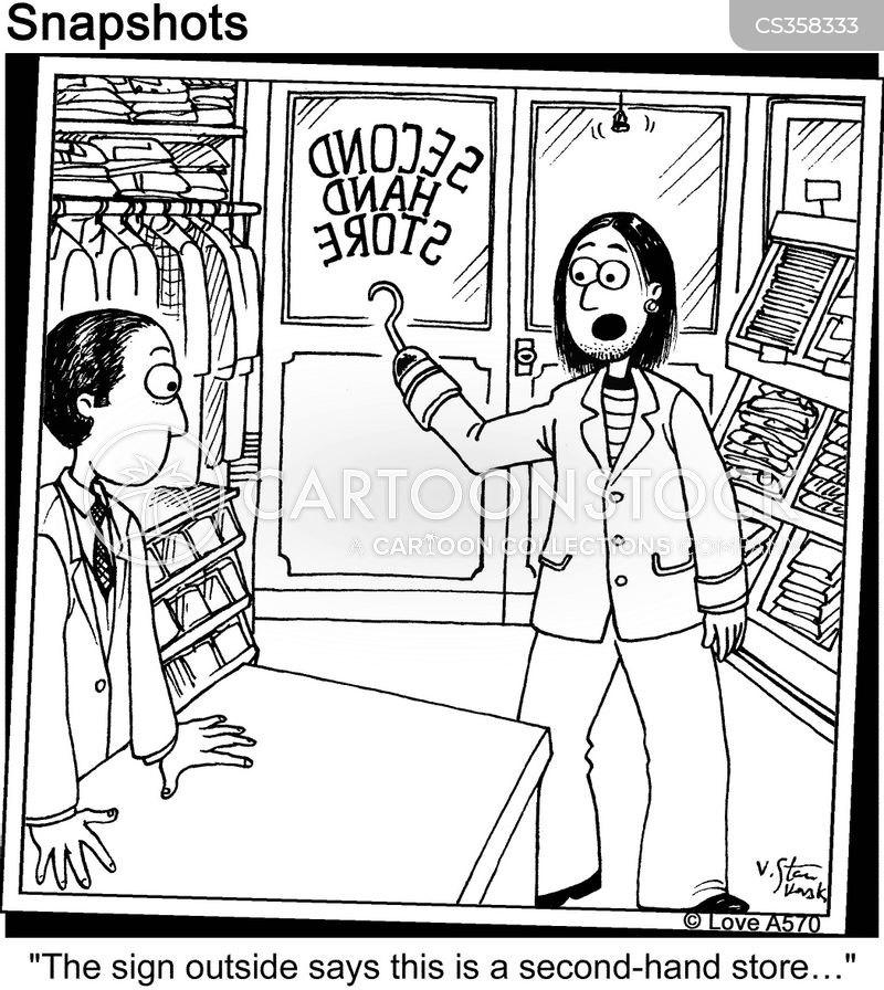 second hand shop cartoon